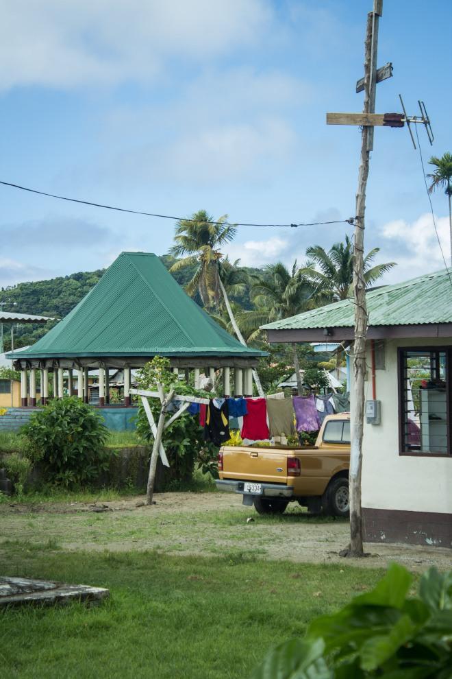 Un trozo de aldea samoana, Mutiatele.